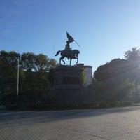 Photo taken at Plaza San Martín by Abel R. on 9/20/2016