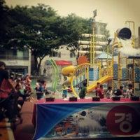Photo taken at 동평공원 물놀이장 by wonil K. on 6/27/2013
