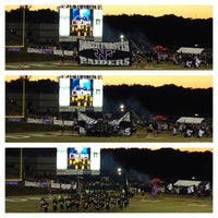 Photo taken at North Forsyth Football Stadium by Mike E. on 10/11/2013