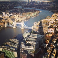 Photo taken at The View from The Shard by MAR on 4/29/2013