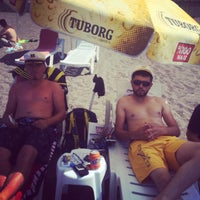 Photo taken at Mustafanın Yeri Beach by Semih K. on 6/26/2014