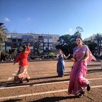 Photo taken at Rabin Square by Sasha Z. on 4/16/2013