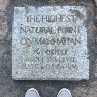 Photo taken at Highest Natural Point In Manhattan by Jason on 6/9/2017