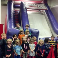 Photo taken at Bounce U by David W. on 11/2/2014