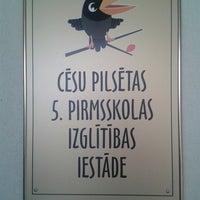 Photo taken at Cēsu pilsētas 5.pirmsskolas izglītības iestāde by Sigita B. on 10/10/2014