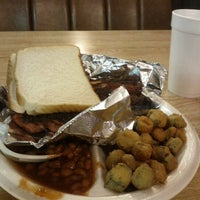 Photo taken at Rustys Bar-B-Q by Hopper on 12/4/2012