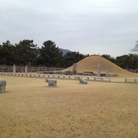 Photo taken at Tomb of King Suro by Rachel L. on 2/17/2013