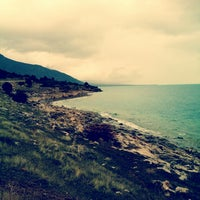 Photo taken at Eğirdir Plaj by Büşra S. on 1/25/2014