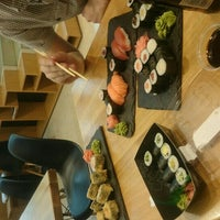 Photo taken at Sushi Time by Petra H. on 6/2/2016