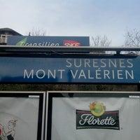 Photo taken at Gare SNCF de Suresnes — Mont Valérien by Mathieu D. on 12/28/2013