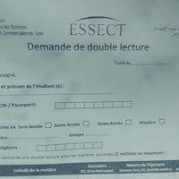 Photo taken at ESSEC Tunis by Mohamed T. on 3/17/2014