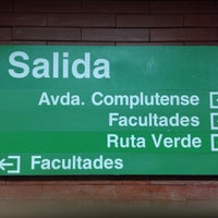 Photo taken at Metro Ciudad Universitaria by Tiberio M. on 9/25/2015