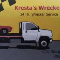 Photo taken at Kresta's Wrecker Service , Towing, & Recovery by Craig K. on 12/27/2013