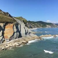 Photo taken at Itzurun | San Telmo Beach by Sergey K. on 8/3/2017
