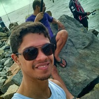 Photo taken at Quebra-Mar Coroa do Meio by Jose F. on 7/8/2014