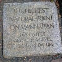 Photo taken at Highest Natural Point In Manhattan by Valerie S. on 7/18/2014