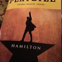 Photo taken at Hamilton: An American Musical by Ellen on 5/12/2018