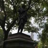 Photo taken at William Shakespeare Statue by Ellen on 9/21/2017