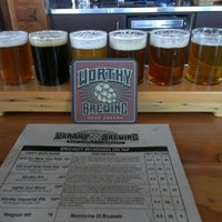 Photo taken at Worthy Brewing Company by Ben R. on 2/10/2013