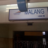 Photo taken at Stasiun Malang by wikanto h. on 12/25/2012
