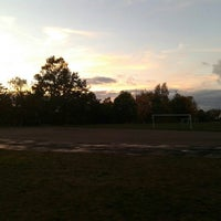 Photo taken at TVģ stadions by Marta S. on 9/30/2015