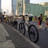 Photo taken at Jalan Jenderal Sudirman by Herry B. on 9/29/2012