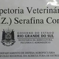 Photo taken at Inspetoria Veterinária Serafina Corrêa by Kleitton P. on 2/4/2014