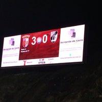 Photo taken at Estádio Municipal de Braga by Vitor R. on 1/10/2014