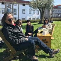 Photo taken at Jardim das Oliveiras by Rui R. on 4/19/2018