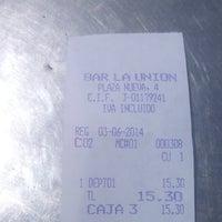 Foto tomada en Bar La Unión por Blanca M. el 6/3/2014