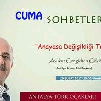 Photo taken at Antalya Türk Ocakları by Emre Ç. on 2/10/2017