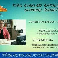 Photo taken at Antalya Türk Ocakları by Emre Ç. on 10/21/2016