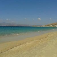 Photo taken at Agios Prokopios Beach by Manos P. on 8/24/2015