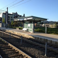Photo taken at TriMet NW Civic Drive MAX Station by Paul A. on 5/10/2012