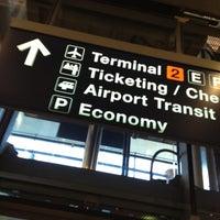 Photo taken at Terminal 2 by Stephen H. on 5/10/2012
