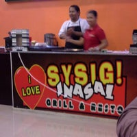 Photo taken at i love sysig inasal grill and resto by Ome D. on 2/21/2014