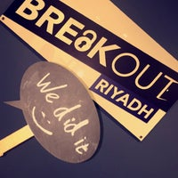 Photo taken at Breakout Escape Rooms | بريك أوت by Sarah A. on 5/2/2016