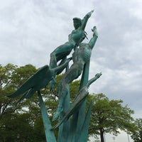 Photo taken at Freedom of the Human Spirit Statue by Michael L. on 5/12/2014