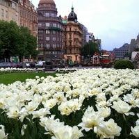 Photo taken at Wenceslas Square by Victoria O. on 4/27/2014