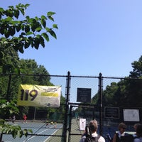 Photo taken at Over the Tracks Tennis Courts by Rafael S. on 7/3/2015