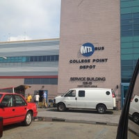 Photo taken at MTA Bus College Point Depot by Annie W. on 7/10/2013