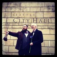 Photo taken at City Hall Plaza by Sol V. on 12/9/2012