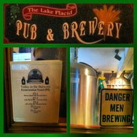 Photo taken at Lake Placid Pub & Brewery by Bee D. on 11/4/2012