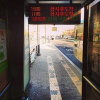 Photo taken at 일산동구청 버스정류장 by Jake M. on 1/27/2013