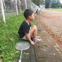 Photo taken at Lapangan Kapten Mudita Bangli by Ayu S. on 1/17/2014