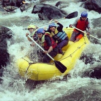 Photo taken at Arus liar, citarik Rafting sukabumi West Java by astrie b. on 1/16/2013