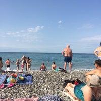 Снимок сделан в Самый южный пляж России пользователем Ольга П. 8/24/2017