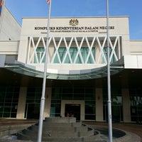 Photo taken at Kompleks Kementerian Dalam Negeri (KDN) by Christopher C. on 4/21/2013