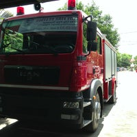 Photo taken at Angeles City Firestation by Marjey D. on 6/5/2013
