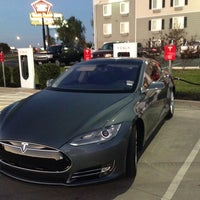 Photo taken at Tesla Supercharger by Pete W. on 11/15/2013